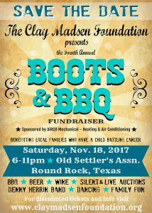 4th Annual Clay Madsen BBQ Fundraiser